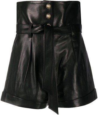 IRO Kolka wide-leg leather shorts