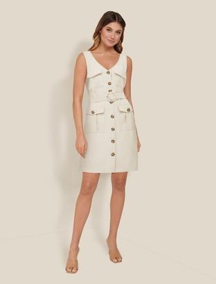 Forever New Brianna Utility Mini Dress - Beige - 10