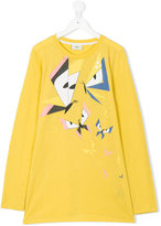 Fendi geometric butterfly print T-shirt