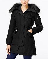 MICHAEL Michael Kors Hooded Faux-Fur-Trim Asymmetrical Down Parka