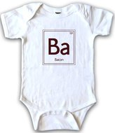 Crazy Dog T-shirts Crazy Dog Tshirts Infants Periodic Element of Bacon One Piece Romper Funny Chemistry Creeper 3 mos