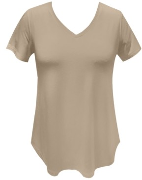 JM Collection Petite V-Neck Top, Created for Macy's