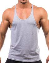Amyove Men's Fashion Basic Solid Training Bodybuilding Gym Tank Tops Workout Fitness Vest