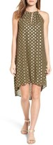 MICHAEL Michael Kors Women's Bergalia Chain Neck Foiled Trapeze Dress