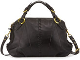 Oryany Daria Leather Satchel Bag, Black