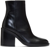 Ann Demeulemeester Black Heeled Leather Boots