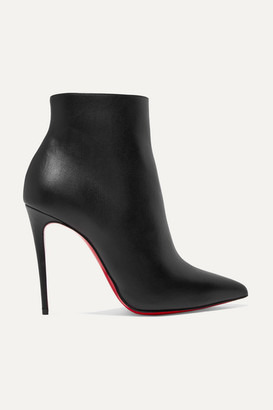 Christian Louboutin So Kate 100 Leather Ankle Boots - Black