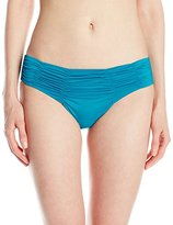 Badgley Mischka Women's Pin-Stitch Brief Bikini Bottom