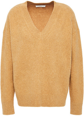 Vince Brushed Cotton-blend Sweater