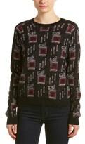 The Kooples Raglan Mohair & Wool-blend Sweater.