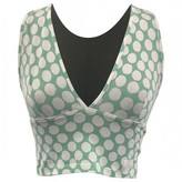 KENDALL + KYLIE Green Cotton Top for Women
