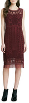 Catherine Malandrino Embroidered-Mesh Sleeveless Dress