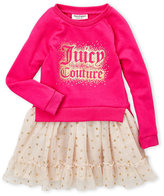 Juicy Couture Infant Girls) Two-Piece Glitter Mesh Dress & Shorts Set
