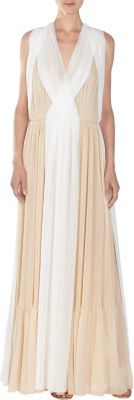 Chloé Two-Tone Georgette Gown