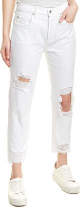 7 For All Mankind Seven 7 Josefina White High-Rise Skinny Boyfriend Cut