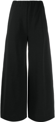 Harris Wharf London High-Rise Wide-Leg Seersucker Trousers
