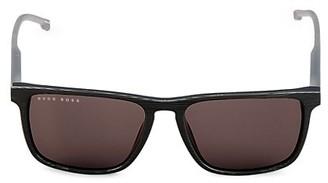 HUGO BOSS 55M Polarized Square Sunglasses