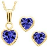 Infant Girl's Mignonette 14K Gold Birthstone Necklace & Stud Earrings
