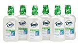Tom's of Maine Natural Wicked Fresh! Mouth Wash Bottle, Peppermint Wave, 16 Ounce, Pack of 6