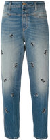 Closed embroidered cropped jeans - women - Cotton/Spandex/Elastane - 25