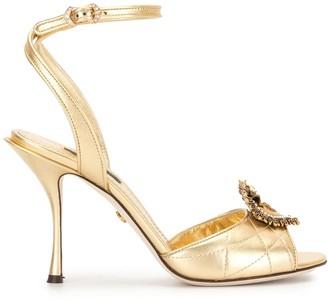Dolce & Gabbana metallic Devotion 90mm sandals