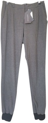 Antipodium Grey Cotton Trousers for Women