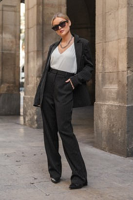 Donnaromina X NA-KD Pinstriped Straight Suit Pants