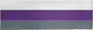 "Striped Slate Gray/Purple Area Rug East Urban Home Rug Size: Runner 2'6"" x 8'"