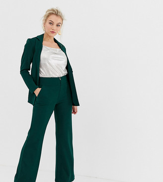 Y.A.S Petite wide leg pants in green
