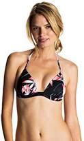 Roxy Women's Blowing Mind Molded Triangle Bikini Top