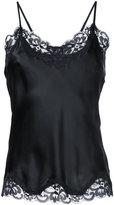Gold Hawk lace trim cami top - women - Silk/Nylon - XS