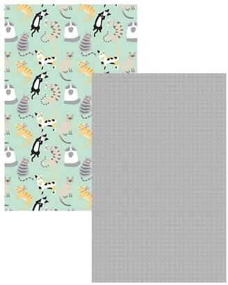 Ambrosia Cats 2 Piece Cotton Tea Towel Set 50 x 70cm