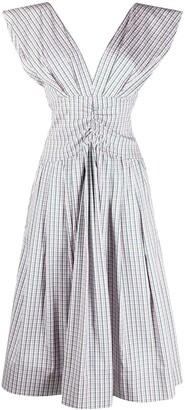 Philosophy di Lorenzo Serafini Check-Print Midi Dress