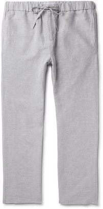 Frescobol Carioca Slub Tencel And Linen-Blend Drawstring Trousers