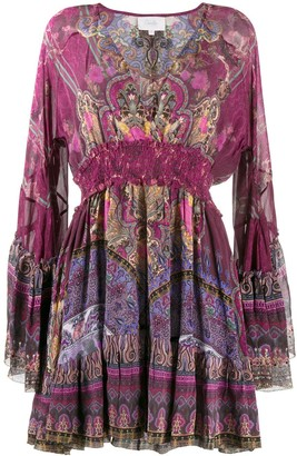 Camilla Printed Flared Sleeve Dress