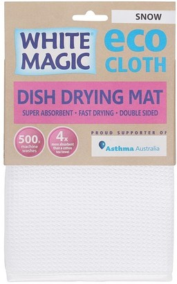 White Magic Eco Cloth Dish Drying Mat Snow White