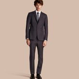 Burberry Slim Fit Travel Tailoring Wool Suit