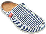 Spenco Orthotic Stripe Canvas Slides with Goring - Siesta Montauk
