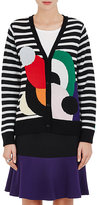 Lisa Perry Women's Striped Wool-Cashmere Cardigan