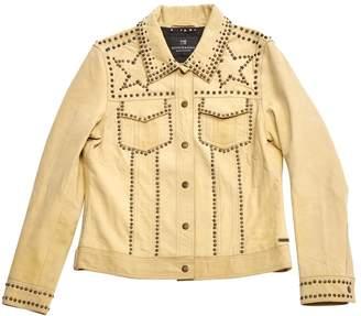 Scotch & Soda Beige Leather Leather jackets