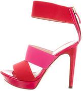 Fendi Elasticized Colorblock Sandals
