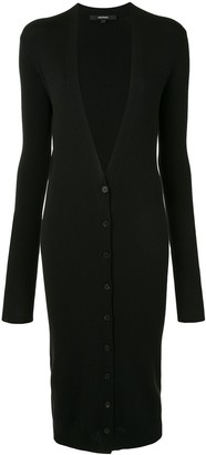 Vera Wang Long Sleeve Ribbed Knit Cardigan