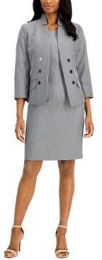 Le Suit Petite Striped Dress Suit