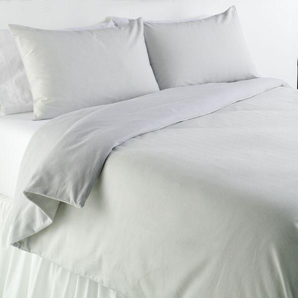 Home classics® chevron flannel duvet cover set