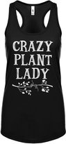 Indica Plateau Womens Crazy Plant Lady Racerback Tank Top