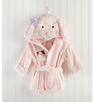 "Baby Aspen Pretty in Pink"" Poodle Hooded Spa Robe"
