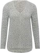 M&Co V neck shimmer jumper