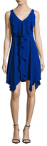 BCBGMAXAZRIA Draped Flare Dress