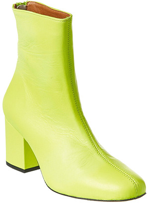 Free People Women's Casual boots LIME - Lime Cecile Leather Ankle Boot - Women
