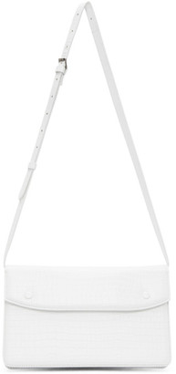 Maison Margiela White Croc Accordion Messenger Bag